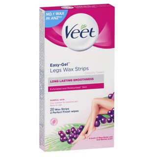 Miếng dán Veet Easy-Gel legs Wax 20 Strips