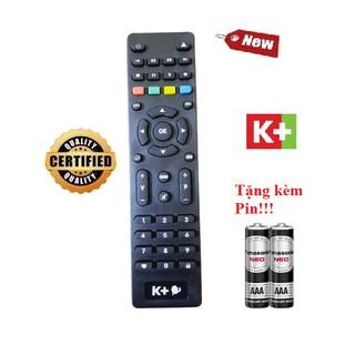 Điều khiển đầu thu K+ HD- Hàng chính hãng 100% Tặng kèm Pin!!!