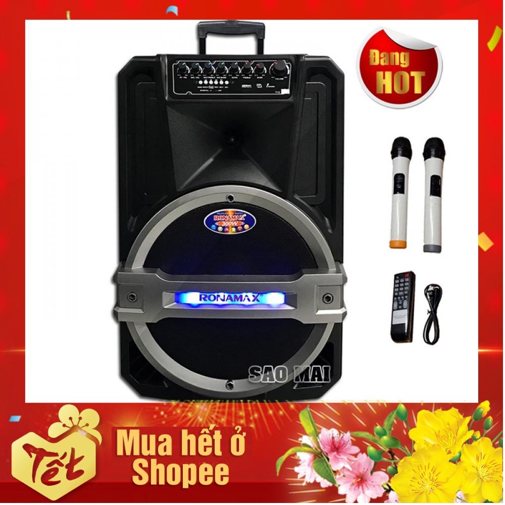 Loa kéo di động,Loa karaoke bluetooth Ronamax T12 bass 30CM - 300W