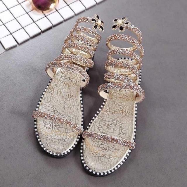Dép sandal xoắn cổ chân