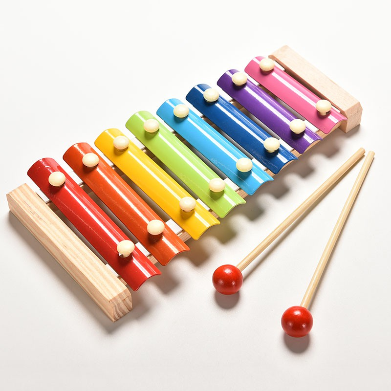 XYVN 1X Cute 8 Tone Xylophone Musical Toys Wisdom Development Wooden Toy for Bab