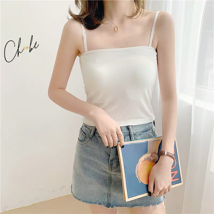 Áo hai dây Choobe mặc trong, chất mịn, dáng ôm, vải cotton co giãn tốt, dây có chốt điều chỉnh, nhiều màu sắc - A11