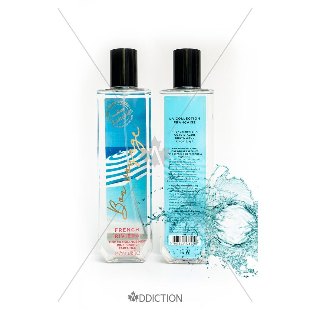 Xịt thơm toàn thân French Riviera Fine Fragrance Mist - Bath & Body Works (236ml)