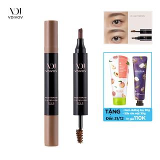 [TẶNG 110K] Bút Kẻ Lông Mày 2 Đầu Nâu Sáng VDIVOV Tinted pen duo 01 Light brown 2.5g thumbnail