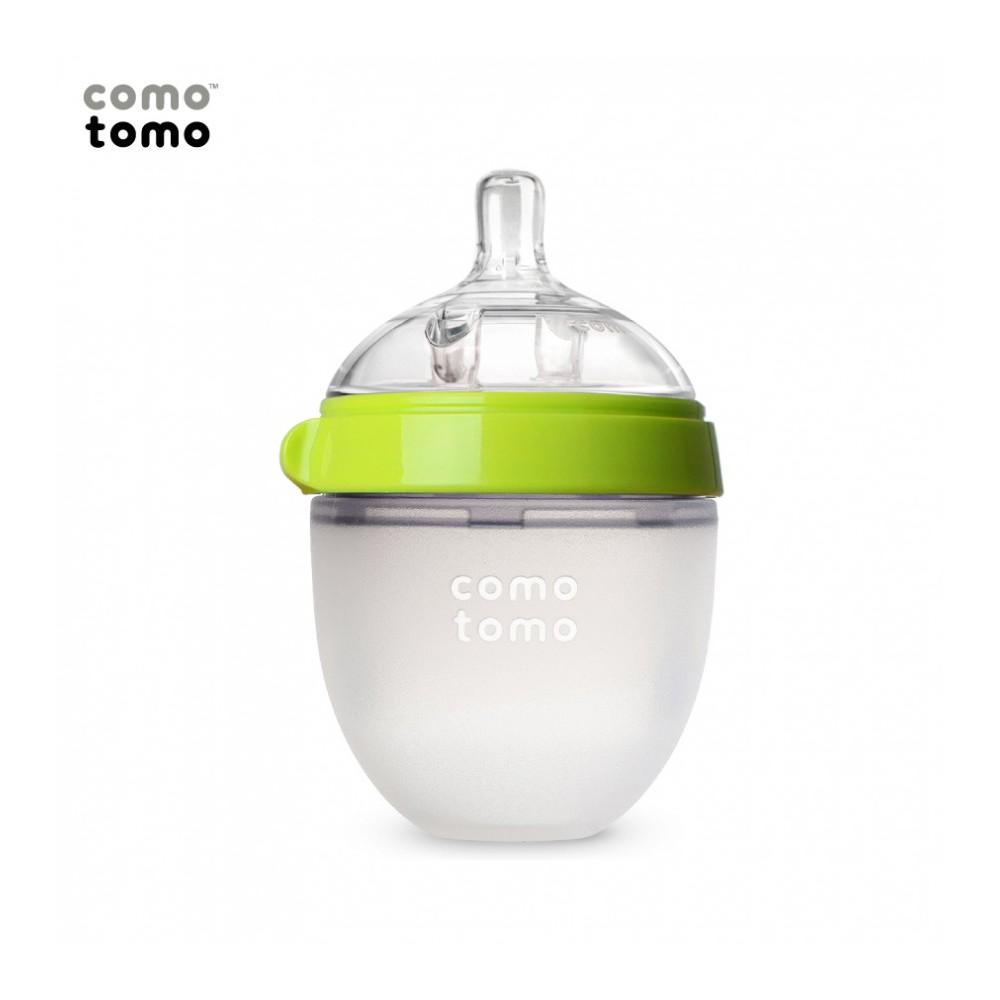Bình sữa silicone Comotomo 150ml - Xanh