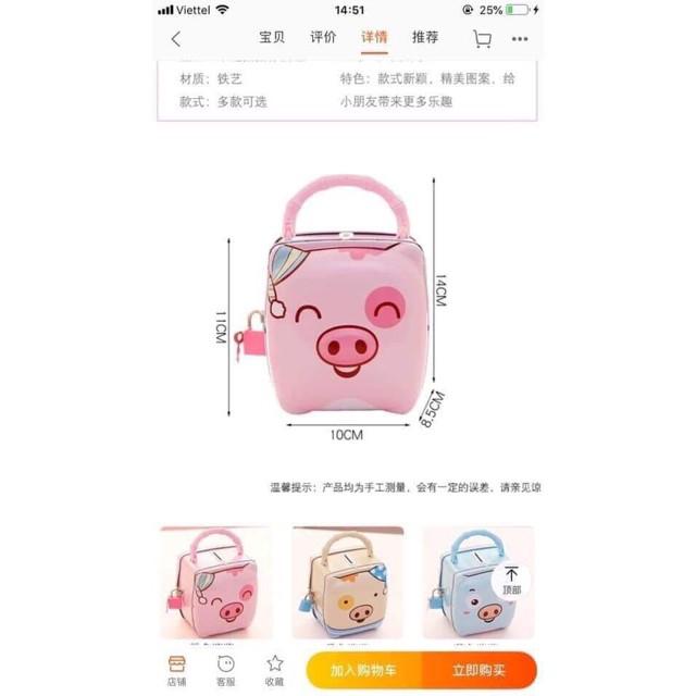 Két Sắt mini hình Con Heo [Mã FREESHIP.XTRA]