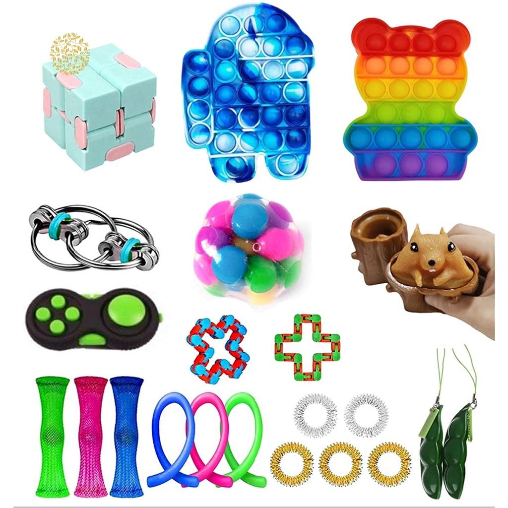 Bộ dụng cụ đồ chơi Fidget Spinner giúp giảm Stress cho người lớn và trẻ em