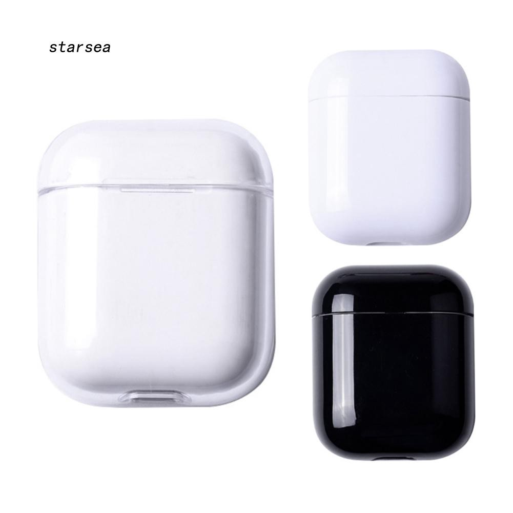 STSE_Glossy Anti-dust Hard Case Cover Protector for Apple Airpods Bluetooth Earphones