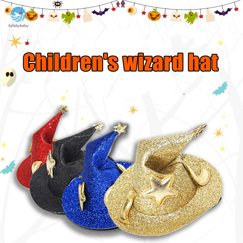 Halloween Decoration Children Wizard Witch Hat Hairpin Masquerade Props Hair Clips Dress Up