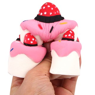 Squishies Strawberry Cake Scented Slow Rising Squeeze Toys Stress Reliever Toys