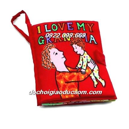 Sách vải tương tác cháu yêu bà love Granma quiet book - 2603368 , 595370547 , 322_595370547 , 110000 , Sach-vai-tuong-tac-chau-yeu-ba-love-Granma-quiet-book-322_595370547 , shopee.vn , Sách vải tương tác cháu yêu bà love Granma quiet book
