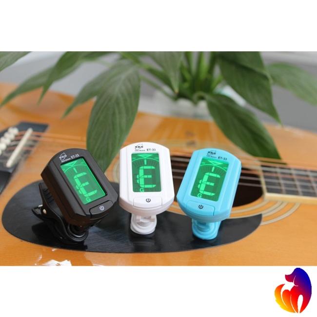 ENO ET-33 Mini Clip-on Guitar Tuner Digital LCD Chromatic Guitar Bass Violin Ukulele Chromatic Bass