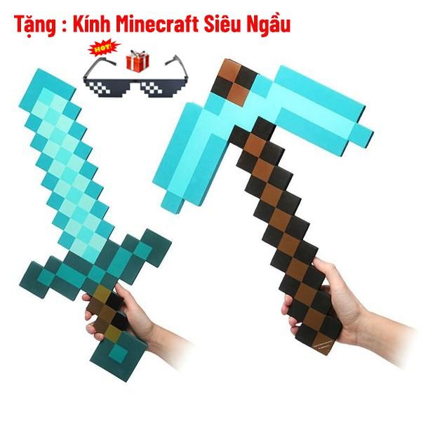 Combo Kiếm Cúp Minecraft Cực Đẹp [Tặng Kính Thug Life]