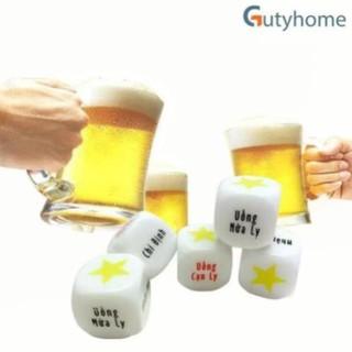 Xí ngầu, xúc xắc uống bia 6 mặt siêu vui cho bữa nhậu – 1 viên