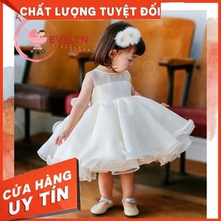[ FREESHIP + TẶNG KÈM NƠ CÀI ĐẦU] Đầm công chúa Evelyn Mã VF03 thời trang cho bé gái 0-9 tuổi mặc dự tiệc sinh nhật