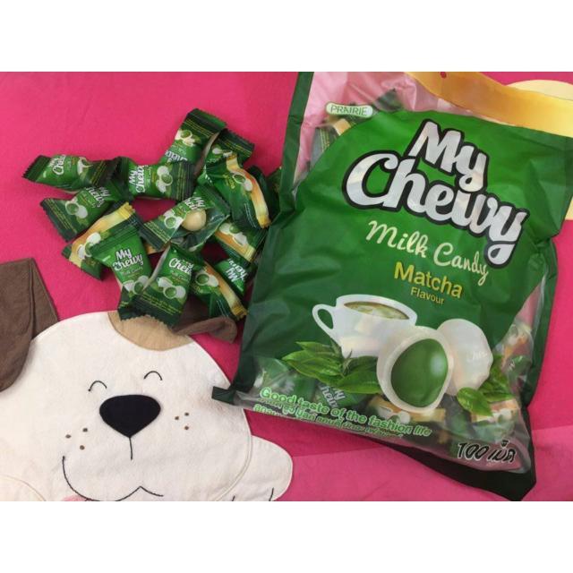 Kẹo My Chewy Milk Candy nhân trà xanh 360g ( khoảng 100c) Thái Lan
