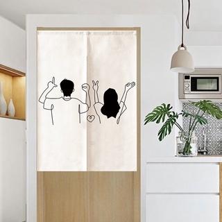 Rèm cửa ngắn in hoạ tiết phong cách Nhật Bản dùng trang trí nhà cửa