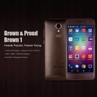 Điện thoại Brown 1 2G 16G 13mp 8mp android 7 Cảm biến vân tay thumbnail