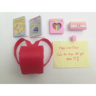 Combo cặp và sách vỡ + hộp búp chính hãng cho Xinyi, bjd 1/8, Licca, Azone, Barbie
