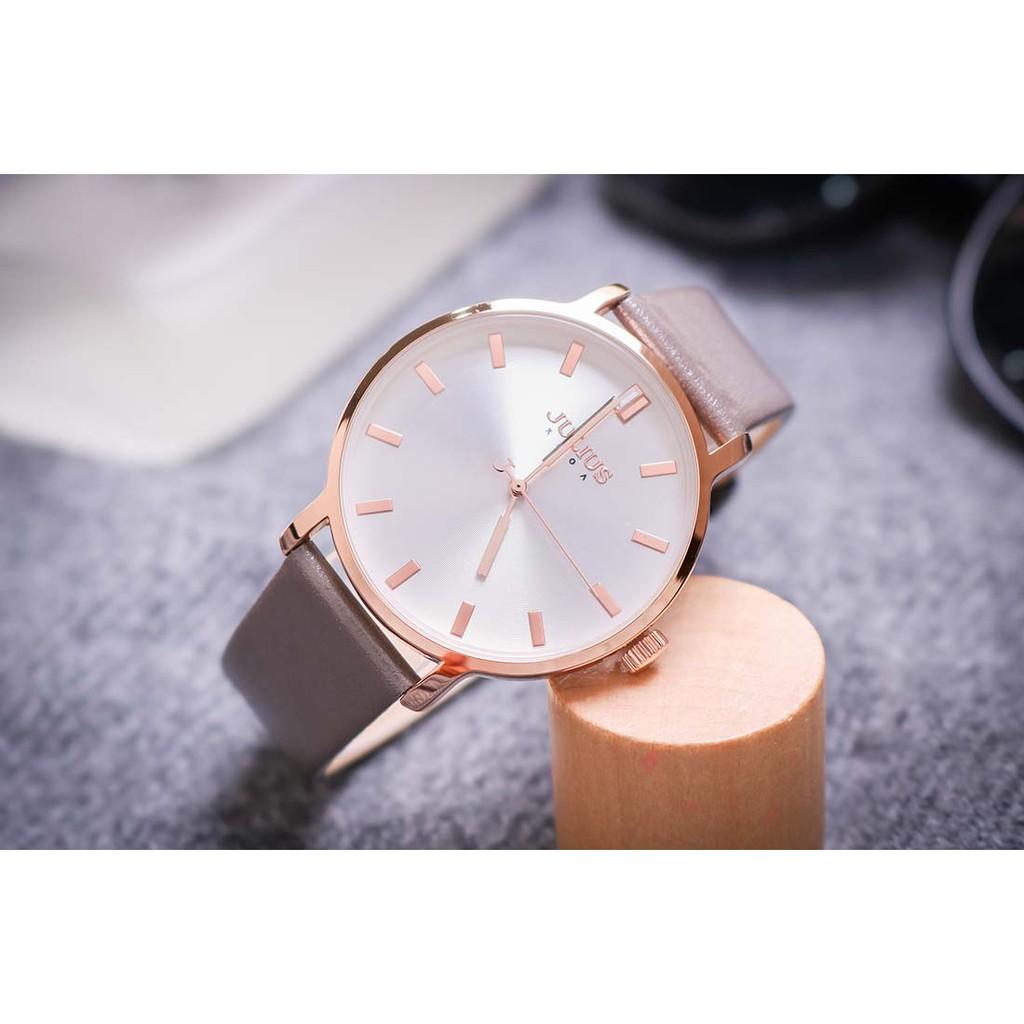 Đồng hồ nam JA-1200MA Julius Hàn Quốc dây da (xám)