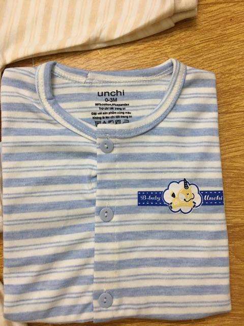 Bộ quần áo trẻ em cotton Unchi cao cấp𝑭𝑹𝑬𝑬𝑺𝑯𝑰𝑷Quần áo dài tay cho bé sơ sinh,quần áo dài tay trẻ em