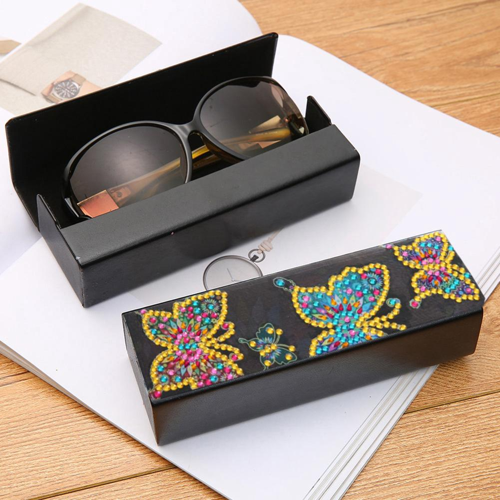 【lu】Sunglasses Case Durable Sturdy Eyeglasses Goggles Protection Box for Most Sunglasses