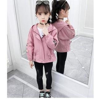 Áo gió bé gái thêu hoa dây size 17-48kg hàng Quảng Châu