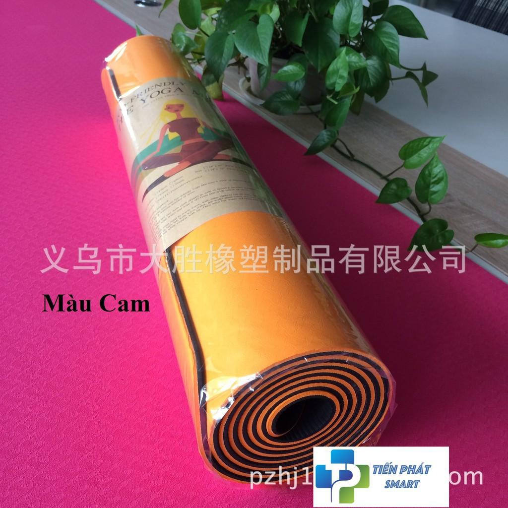 FREESHIP Thảm Yoga (kèm túi lưới) TPE 2 lớp 6mm