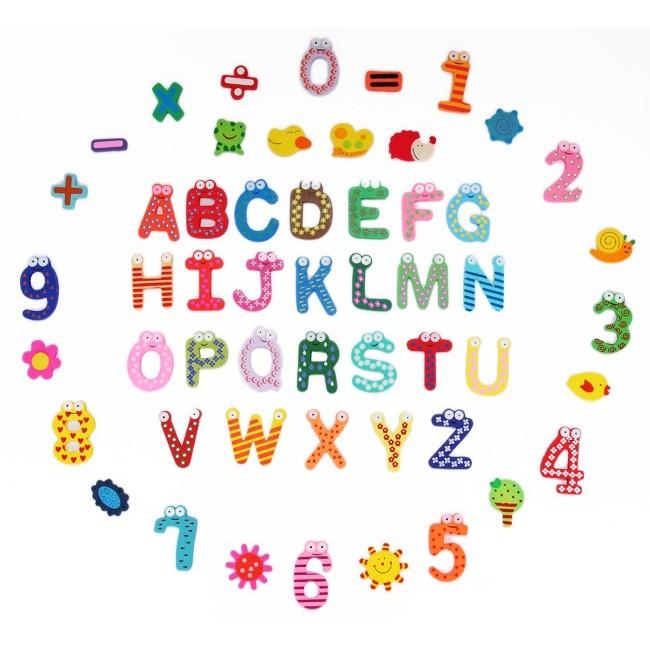 Bộ nam châm 26 chữ + 10 số + 5 dấu và 12 sinh vật biển