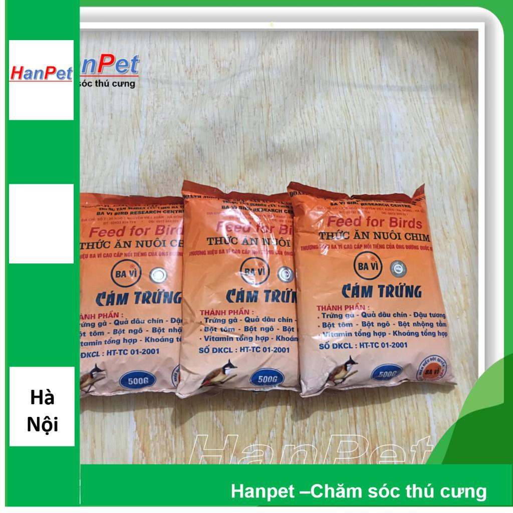 Combo 3 gói Thức ăn cho chim(Cám trứng BAVI - 500gr) (hanpet 214)