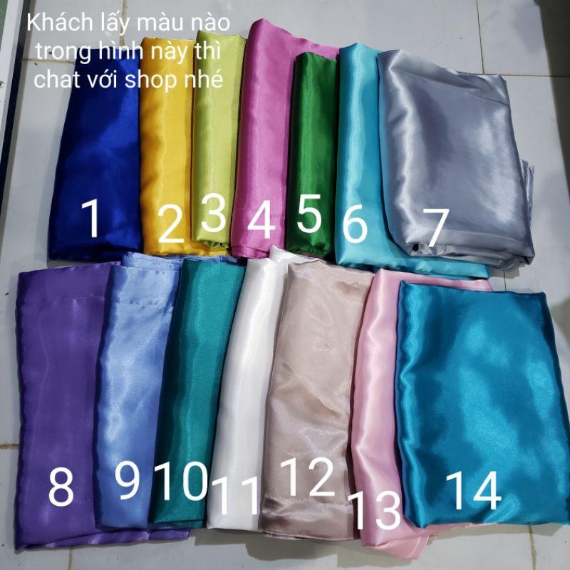 Bộ drap phi lụa mát mịn 4 món - ga giường + 3 vỏ gối (ko mền) M4, M6, M8 15cm