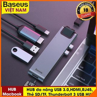Hub Đa Năng 7 In 1 Baseus Thunderbolt 3 HUB USB C Loại Kép-C 7in1 USB 3.0 Loại C HUB