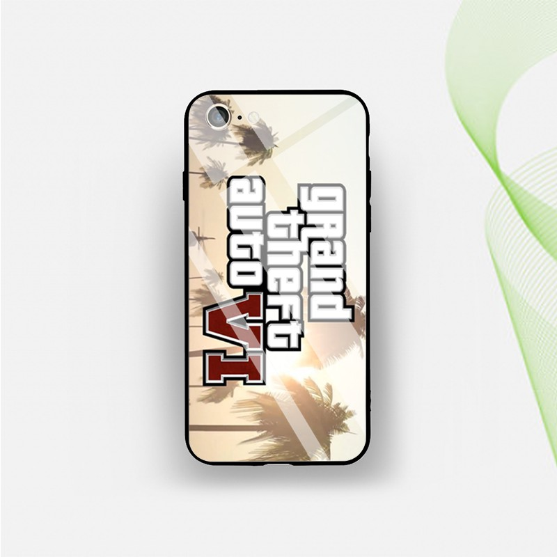 Tempered Glass Case TPU+PC Grand Theft Auto gta 5 7 2 IPhone XR XS 6S 7+