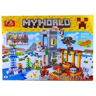 Bộ Lego Xếp Hình Mineecraft My World 282 Chi Tiết. Lego Ninjago Lắp Ráp Đồ Chơi Cho Bé Chơi Cực Thích