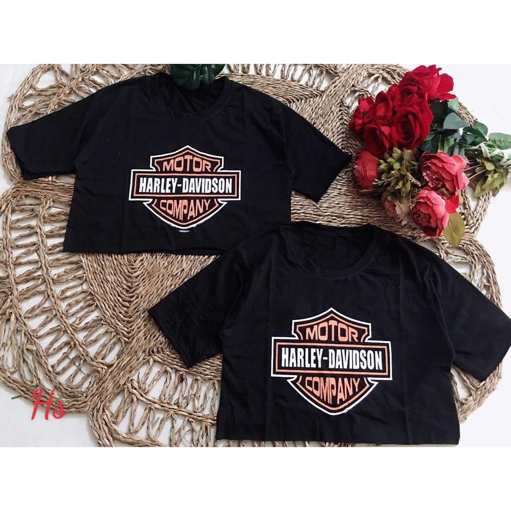 Mặc gì đẹp: Gợi cảm với Áo Croptop Nữ Tay Ngắn MOTOR HARLEY-DAVISON COMPANY Chất Cotton Mềm Mịn Xưởng May DCS Mã 19