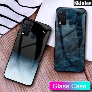 Skinlee Case For VIVO Y50 Tempered Glass Cover Back Instagram Starry Sky Design Housing Mirror Casing Y30