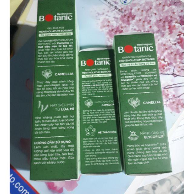Mentholatum Botanic -Bộ chăm sóc da Gel rửa mặt , dung dịch, tinh chất