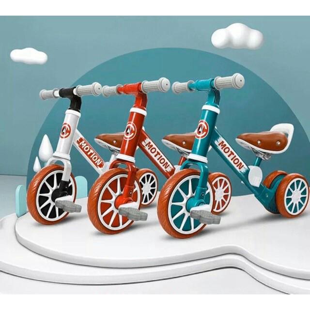 xe chòi chân thăng bằng cho bé MOTION, có bàn đạp 2in1 yên bằng da