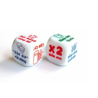 Xí ngầu chơi game set 5 viên 6 hình cực thú vị