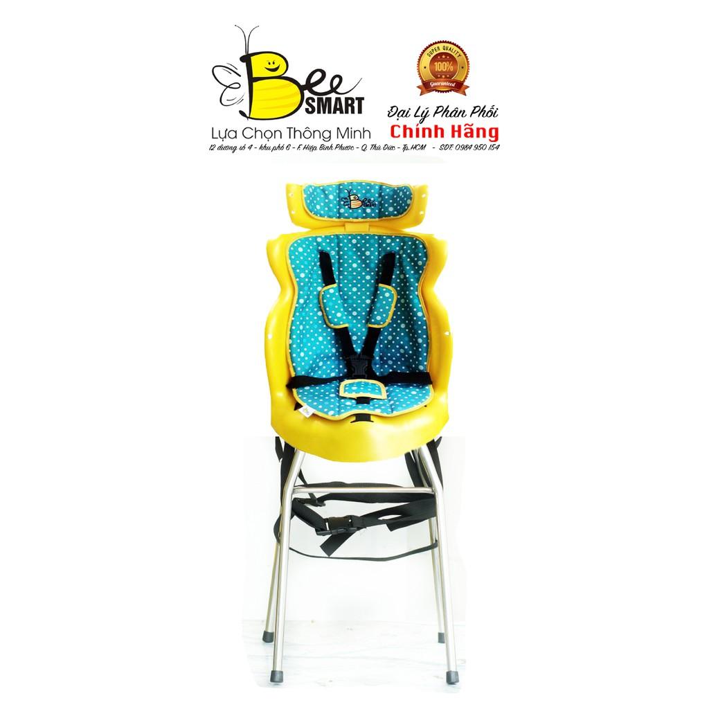 Ghế ngồi xe máy cho bé Beesmart X2 – Xanh Bi (Tặng 1 khăn voan che cho bé)