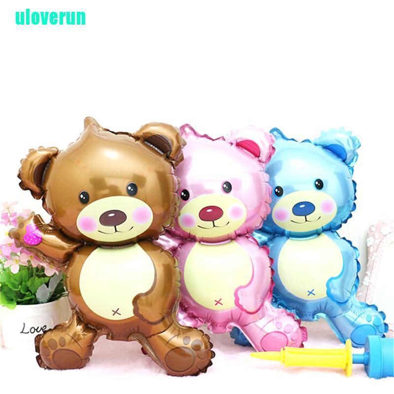 uloverun Lovely Children's Bear Toys Foil Balloons Cartoon Birthday Wedding Party Decoration