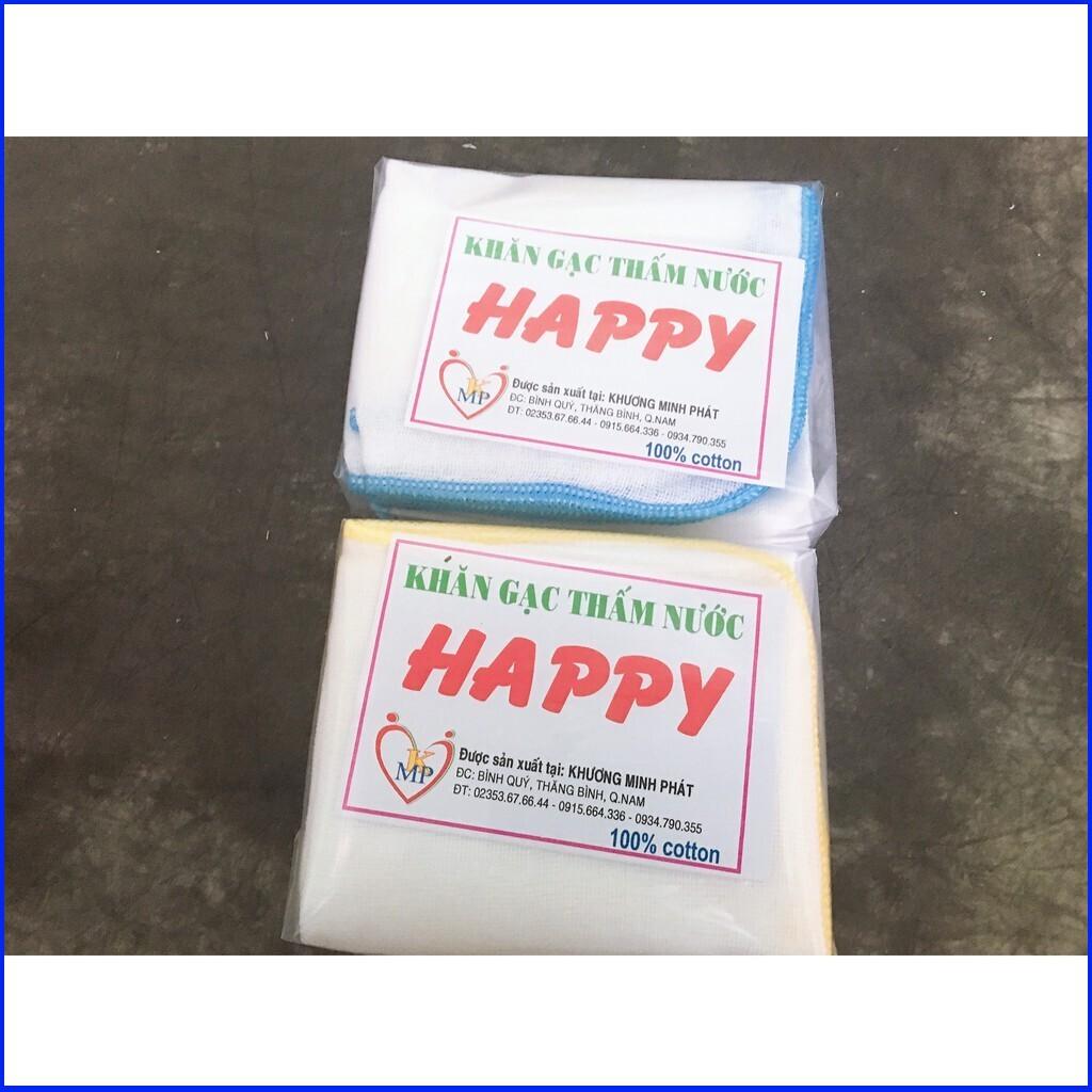 [GIẢM GIÁ 46%] 10 Cái Khăn sữa 3 lớp cho bé Happy