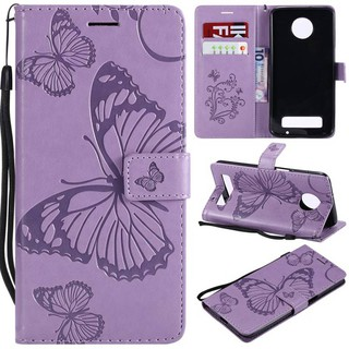 For Motorola Moto Z3 Z4 play Leahter Case Flip Phone