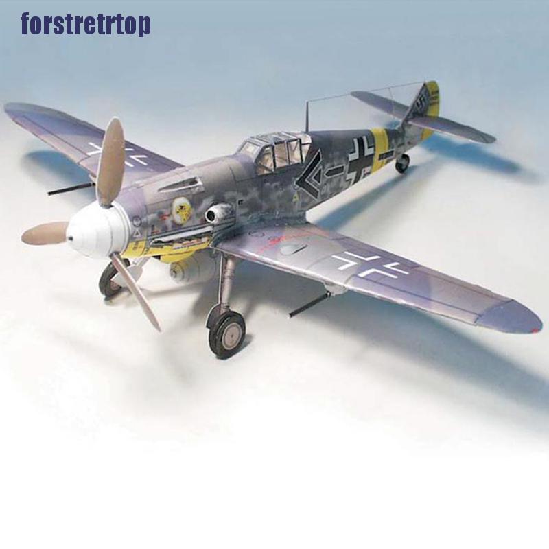 【FSTTTOP】1:32 Germany Bf-109 G6/G14 Bomber Aircraft Model 3D Papercraft Kits T