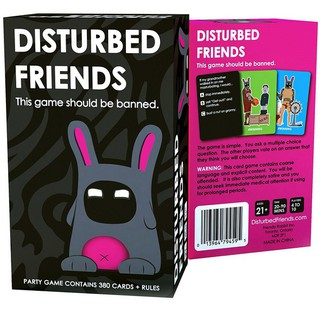 Disturbed Friends Card Board Game Family Party Adult Boys Girls Toys