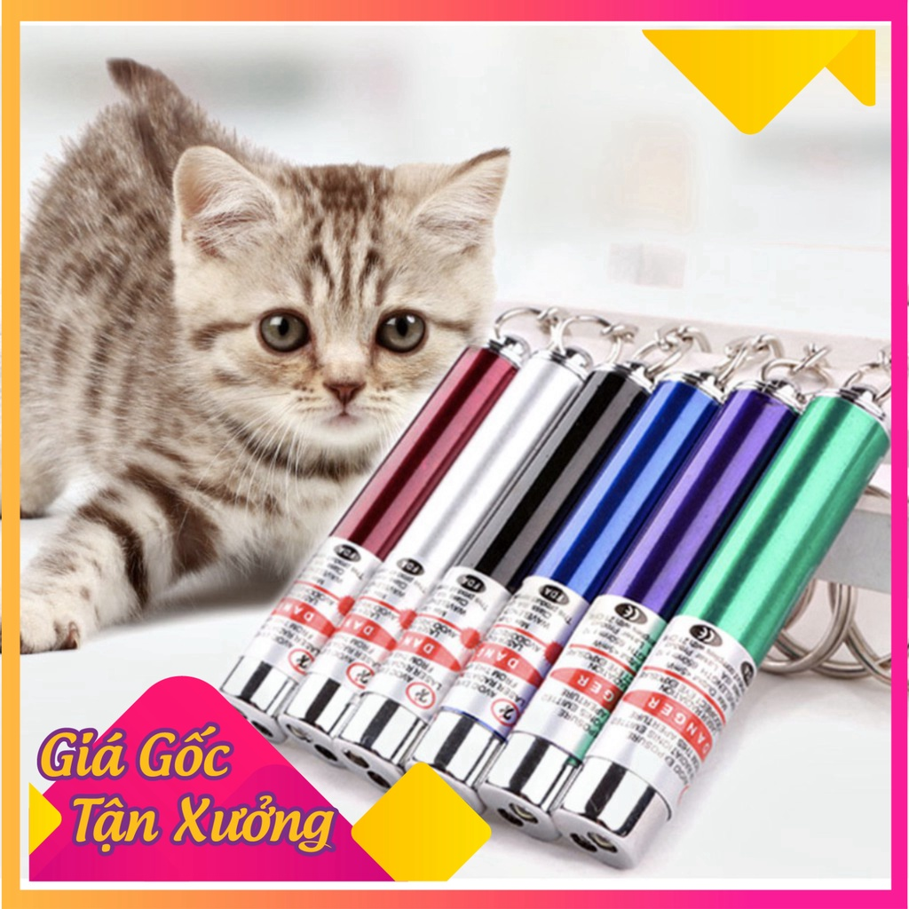 Đèn Laser (la ze) đèn LED chiếu sáng đồ chơi cho mèo kèm pin giá siêu rẻ-Không hộp