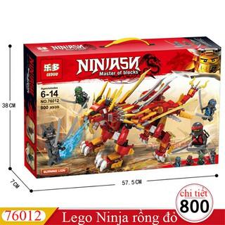 Lắp ráp lego Ninja Rồng Sấm Sét báo lửa – Boshi 76012