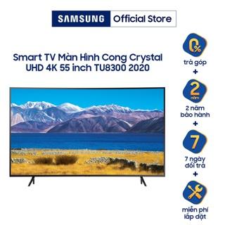 Smart Tivi Samsung Màn Hình Cong Crystal UHD 4K 55 inch UA55TU8300KXXV - Miễn phí lắp đặt