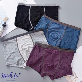 Combo 4 quần lót nam thông hơi cạp nhỏ thoáng khí mùa hè siêu mát