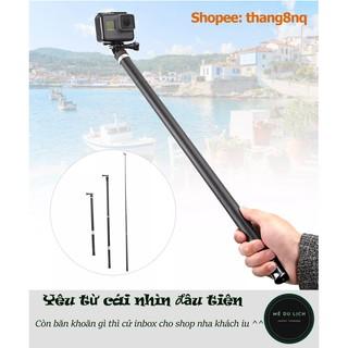Gậy selfie Telesin dài 2.7m cho gopro, action cam | chất liệu Carbon